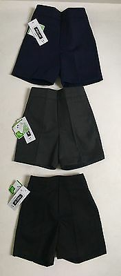 Boys Kids Teflon School Shorts  Ages 2-14  Years In Black/navy/grey