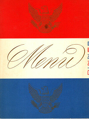SS UNITED STATES -- Tourist Class Dinner Menu, 1954 -- United States Lines