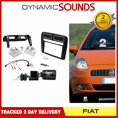 CTKFT15 Double Din Stereo Fascia Fitting Kit Black L.H.D For Fiat Grande Punto