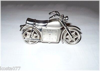 Daniel David Collection Metal Motorcycle Clock, WORKS!