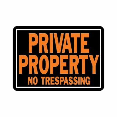 """HY-KO 848  Aluminum Private Property NO TRESPASSING 10"""" x 14"""" Sign Pack of 12"""