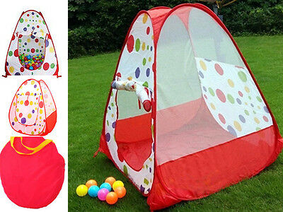 Kids Pop Up Spotty Play Tent Playhouse Igloo Children Play Tent Indoor Outdoor