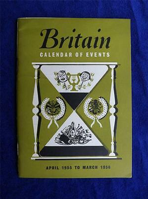 Britain Calendar Of Events Booklet Brochure Vintage Travel Vacation Collect 1955