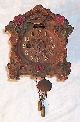 Pressed Wood Syroco Style Cuckoo Clock Made In Canada