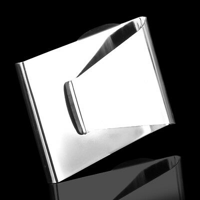 Stainless Steel Slim Money Clip Double Sided Credit Card Holder Wallet
