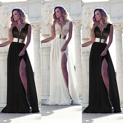 Sexy Women Wedding Bridesmaid Formal Gown Party Cocktail Evening Prom Long Dress