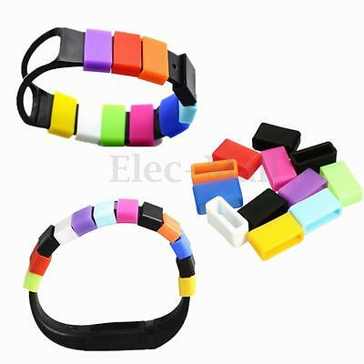 12pcs Clasp Security Fastener Keeper Protector For Fitbit One Bracelet Wristband