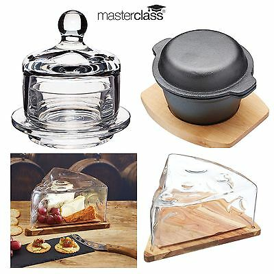 Kitchen Craft Masterclass Artesa Cheese Wedge Cloche, Mini Cloche or Cooking Pot