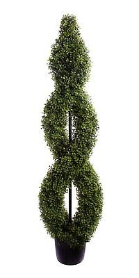 Best Artificial 5ft 150cm Boxwood Double Twist Topiary Spiral Outdoor Tree Plant