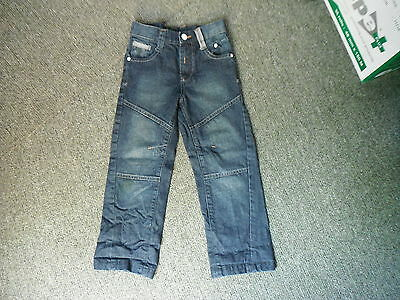 "George Relaxed Fit Jeans Waist 22"" Leg 19"" Faded Dark Blue Boys 4 - 5 Yrs Jeans"