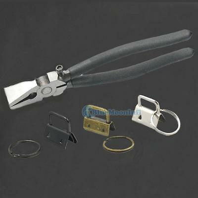 """1"""" 25mm Key Fob Hardware Wristlet Set With Split Ring Keychain And Tools Wristle"""