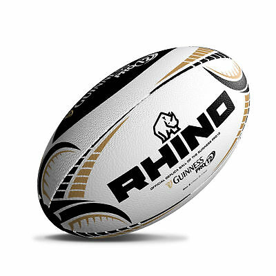Rhino Rugby Guinness Pro12 White Replica Rugby Ball Size 5 rrp£20
