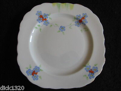 """ART DECO CARTWRIGHT & EDWARDS (VICTORIA) HAND-PAINTED FLORAL 6.5"""" PLATE 30's EX"""