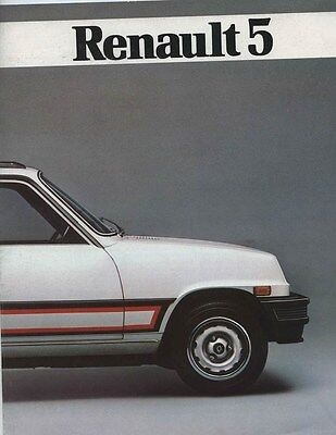 1984 Renault 5 Brochure Canada French my6153