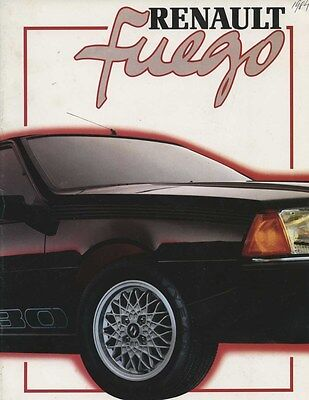 1984 Renault Fuego Brochure French my6156