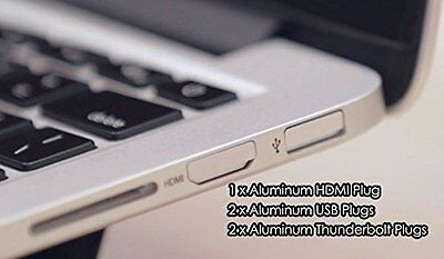 "BASEQI Aluminum Dust Plugs (iHUT) for MacBook Pro Retina 13"" & 15"""