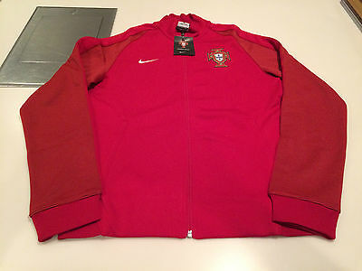 Team Portugal 2016 Federation Soccer Jersey Men's Red Track Jacket Euro Small