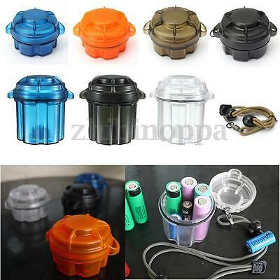 EDC Survival Capsule Waterproof Storage Container Battery Holder Box Case Tools