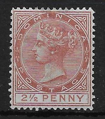 DOMINICA SG6 1879 2½d RED-BROWN MTD MINT