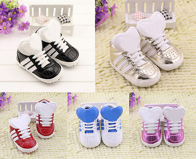 Toddler Baby Boy Girl First shoes soft sole Crib Shoes Sneakers Size 0-18 Months