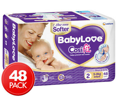 BabyLove Infant Cosifit Nappies 3-8kg 48 Pack