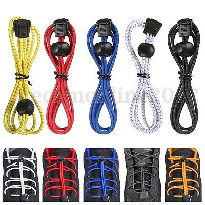 Durable Elastic No Tie Quick Lock Reflective Shoe Laces For Running Hiking Shoes