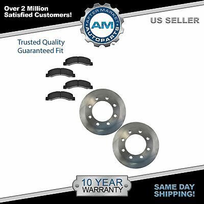 Front Disc Brake Rotor & Metallic Pad for Ford F250 F350 Super Duty 4x4 4WD New