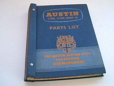 Vintage Austin 1 - ton, 1.5 ton Series LD Parts List