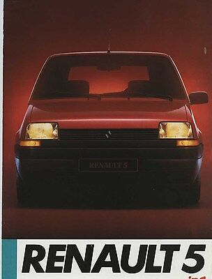 1985 Renault 5 Supercinq Brochure French my6179