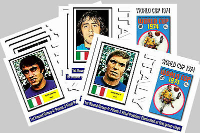 Italy - 1974 World Cup  Series 1 - Collectors Postcard Set