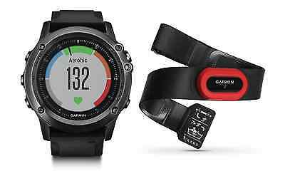 NEW Garmin Fenix 3 HR | Sapphire Multi-Sport GPS Watch HRM-Bundle 010-01338-73