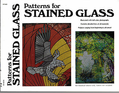 Vintage 1977 Patterns For Stained Glass By James Glick