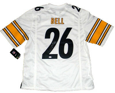 8154510bd Le veon Leveon Bell Signed Pittsburgh Steelers  26 White Nike Limited Jersey  Jsa