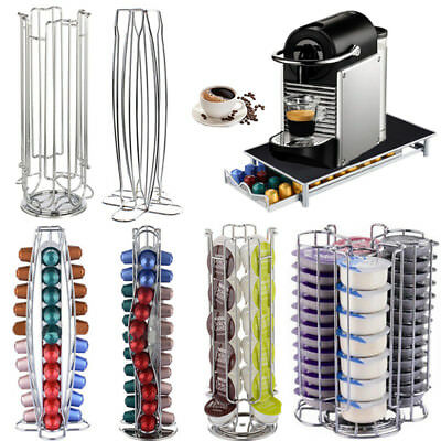 Revolving Rotating Capsule Coffee Pod Holder Tower Stand Rack for Dolce Gusto