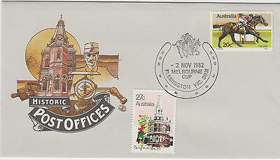 1982 Australia Melbourne Cup horse race Tulloch stamp post office FDC & postmark