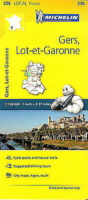 Michelin Map 336 Gers Lot et Garonne France Local Road and Tourist