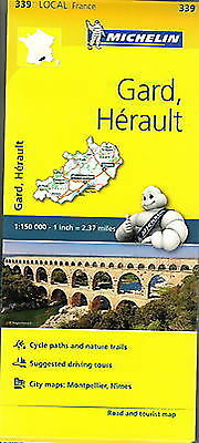 Michelin Map 339 Gard Herault France Local Road and Tourist