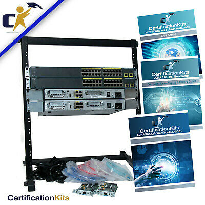 Basic 2 Router & 2 Switch CCNA Lab Kit 200-120/200-125 *1 Year Wnty With Rack*