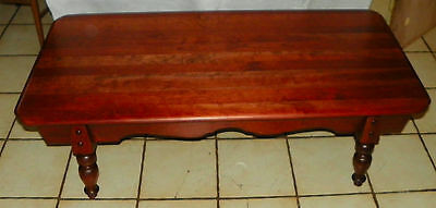Mid Century Solid Cherry Coffee Table By Brandt (BM CT129)
