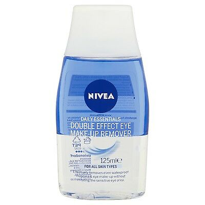 Nivea Daily Essentials Double Effect Eye Make-Up Remover 125 ml - Pack of 6
