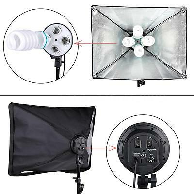 Photo Video Studio Lighting Portrait Photography Backdrop Softbox Stand Kit N9E2