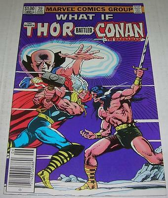 WHAT IF? #39 THOR BATTLED CONAN THE BARBARIAN (Marvel Comics 1983) (FN/VF)