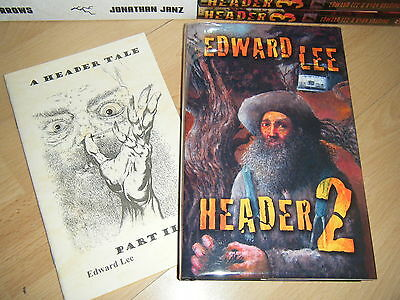 Edward Lee HEADER 2 + Matching chapbook 1st/HB MINT Signed/Limited Camelot Books