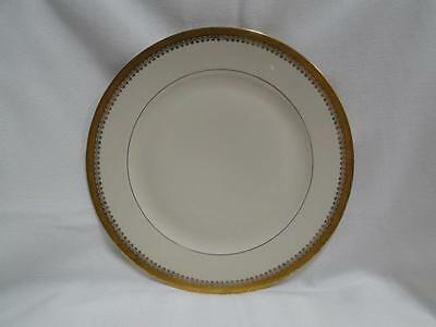 """Royal Ivory Buckingham, Ivory w/ Gold Encrusted Band: Dinner Plate (s), 10"""""""