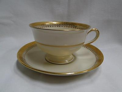 Royal Ivory Buckingham, Ivory w/ Gold Encrusted Band: Cup & Saucer Set (s)