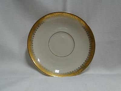 "Royal Ivory Buckingham, Ivory w/ Gold Encrusted: 5.75"" Saucer (s) Only - No Cup"