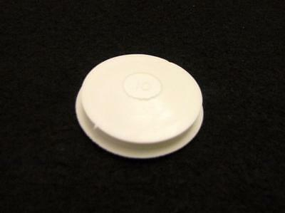"Single White Piggy Bank Rubber Stoppers / Plugs Sizes for Holes Between 1"" to 2"""