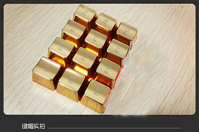 UQ Mechanical Keyboard Zinc From Area F1 to F12 Keycaps Lid Gold For Cherry MX