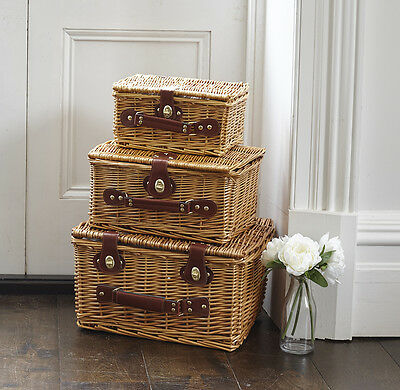 Wicker Picnic Gift Hamper Basket Storage Large Medium Small with Handle Sweet
