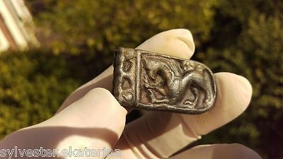 Viking Lead Strap end with doubble sided Beast !! rare !! 41 mm
